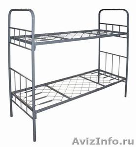 кровати двухъярусные, кровати одноярусные металлические для рабочих и турбаз опт - Изображение #5, Объявление #695558