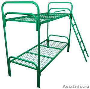 кровати металлические для гостиницы, кровати оптом, кровати для строителей - Изображение #2, Объявление #906012