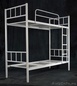 Кровати металлические для бытовок, кровати трёхъярусные для рабочих. дёшево - Изображение #2, Объявление #1478871