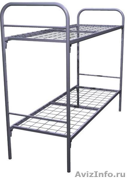 Кровати металлические для бытовок, кровати трёхъярусные для рабочих., Объявление #1478872