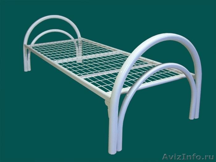 Кровати металлические для казарм, кровати двухъярусные для студентов. оптом, Объявление #1479819